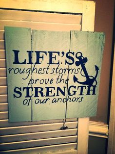 Very true :) Anchor Pallet Sign