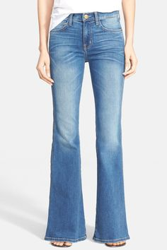 Current/Elliott - 'The Girl Crush' Flare Leg Jeans (Dustbowl) at Nordstrom Rack. Free Shipping on orders over $100.