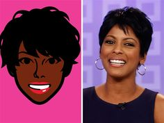 Tamron Hall gets a cartoon makeover (Photo: iMadeFace, Getty Images)
