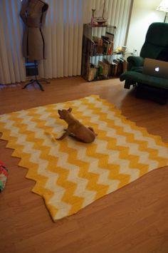 Whoa, Maria!: A Chevron Blanket knitting project