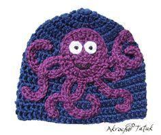 Tuque pieuvre adulte par AkrocheTatuk sur Etsy, $44.00
