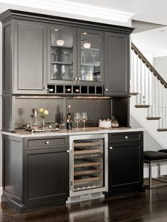 Kitchen Glass Cabinets On Butlers Pantry Design, Pictures, Remodel, Decor and Ideas - page 10