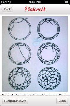 Výsledek obrázku pro patrones para hacer atrapasueños paso a paso