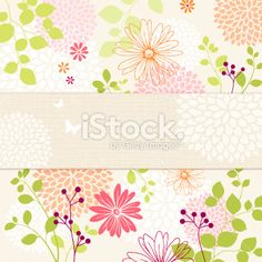 Floral Background Royalty Free Stock Vector Art Illustration