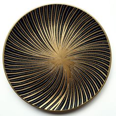 Golden Shell - Wall Shell - Decorative Shell - Wall Shell - Wall Hanging - Decorative Plate - Costal Art - Golden Decor - Golden Lines by…