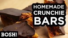 HOMEMADE CRUNCHIE BAR | BOSH! | VEGAN RECIPE - YouTube