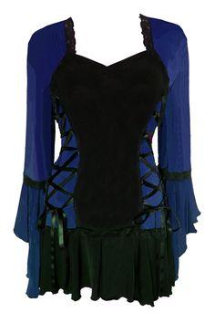 Dare to Wear Victorian and Gothic inspired plus size Bolero corset top in Midnight