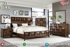 Versailles Model Kamar Set Minimalis Jati Natural Klasik Epic Style BT-0841