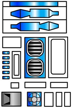 star wars r2 d2 template - Google Search