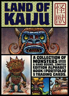 Introducing Land of Kaiju, a collection of Japanese-styled monsters created by Chet Phillips. Kaiju translates to strange beast or monster and has a long and glorious history in pop culture and on … Japanese American, Japanese Style, Strange Beasts, Artist Card, Horror Monsters, Japanese Characters, Alphabet Book, Weird Creatures, Trading Cards