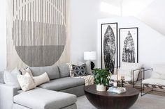 The Pros From Benjamin Moore Answer All Your Paint Questions Grey Room, Living Room Grey, Living Rooms, Cozy Living, Coastal Living, Small Living, Living Spaces, Light Grey Walls, White Walls