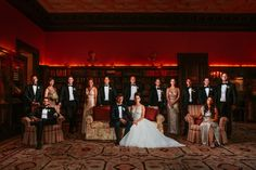 Wedding Party Flash Composite Group Wedding Photo at Sleepy Hollow Country Club