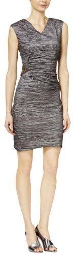 Calvin Klein Women's Textured Embellished Dress (Taupe,2)