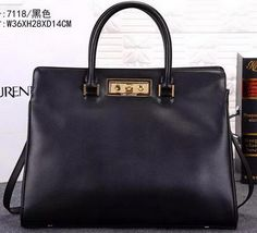1444049e1751 YSL Medium Trois Clous Tote Bag Y7118 Black. Miami by night  SaintLaurent  ...