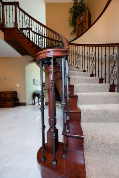 curved banister rail   Residential Stairs from Spiral Stairs & Curved Staircases Unlimited