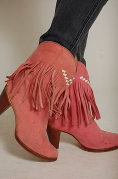 Your place to buy and sell all things handmade Cute Boots, Sexy Boots, Over Boots, Mode Shoes, Fringe Boots, Cowgirl Boots, Western Wear, Bootie Boots, Coral Boots
