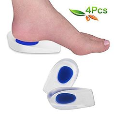Motivated 1 Pair Soft Silicone Gel Heel Support Pad Cup Foot Care Half-height Insoles Pads Shock Cushion Orthotic Insole Increased Plantar Skin Care Tools
