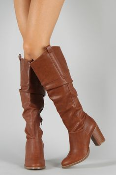 Soda Now-H Slouchy Knee High Boot
