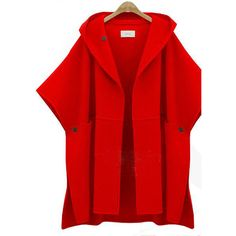 Nice Top-Quality Women's Fashion Loose Wool Cloak Winter Coat 3 Colors XL-5XL