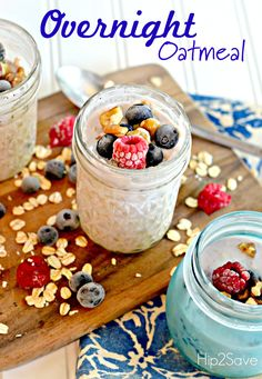 Overnight Oatmeal Recipe by Hip2Save.com