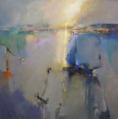 "Peter Wileman,                                                                 Castle Moil, Isle of Skye, 36"" x 36"", oil on canvas"