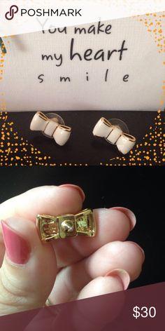"Kate Spade ""Take a Bow"" earrings NWOT. No packaging, dust bag only. kate spade Jewelry Earrings"