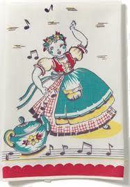 Whistle or sing while you work !- For Dana! Cottage Kitchen Decor, Cottage Chic, Vintage Kitchen Accessories, Big Chill, Vintage Stuff, Vintage Tea, Kitchen Towels, Tea Towels, Tea Party