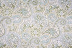Mood Fabrics : New York Fashion Designer Discount Fabric | HC8318 Natural/Pea/Maize/Tiffany Blue/Taupe/Baby Blue Paisley Prints
