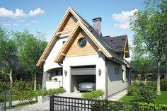 Casa cu mansarda in suprafata de 138 mp Home Fashion, Shed, Outdoor Structures, Cabin, Architecture, House Styles, Studio, Home Decor, Arquitetura