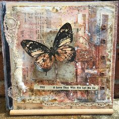 Mixed-Media-Watercolor-Collage-Altered-Scrabble-Game-Book-Cover-Butterfly-Indigoblu