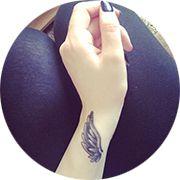 Angel Wings Tattoo Design: On Forearm