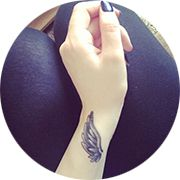 Angel Wings Tattoo Design: On Forearm