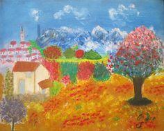 Mountain Village Painting