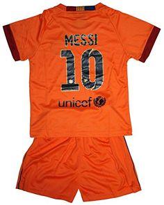 40a6c4964b2 2014/2015 Lionel Messi 10 Away Barcelona Fc Football Soccer Kids Jersey  & Short