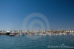 Marina - touristic seaport with yacht and boats