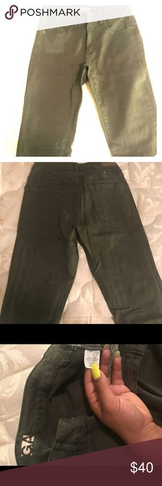 Garage Olive Green Jeans Olive green Garage jeans. Size 3, worn once. No wear and tear. Only selling because I can no longer fit them! Garage Jeans Skinny