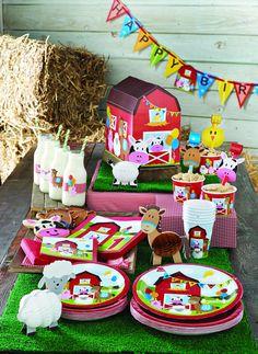 Stylish Baby First 1st Birthday Farm Fun Party Plates Cups Napkins Decorations   eBay