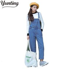 742c7f64e6f5 2017 New Fashion Women Embroidery denim straight Jeans Jumpsuit Rompers  ladies vintage Denim jean Overalls pant-in Jumpsuits from Women s Clothing  ...