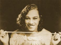 Blanche Calloway (February 9, 1904 - December 16, 1978) was a Jazz singer, bandleader, and composer from Baltimore, Maryland. She is not as well known as her younger brother Cab Calloway, but she may have been the first woman to lead an all male orchestra. Cab Calloway often credited her with being the reason he got into show business. She made her first recordings in 1925, with Louis Armstrong as a sideman on the session.