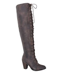 Loving this Brown Camila Over-the-Knee Boot on #zulily! #zulilyfinds $16.99 was $77.00