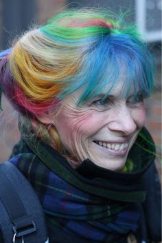 when i am old i shall wear rainbows in my hair..... <3