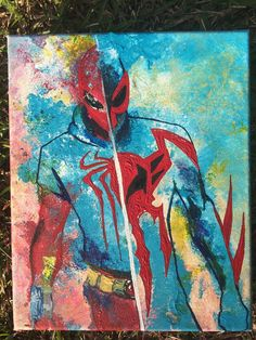Painting Scarlet & Spiderman 2099