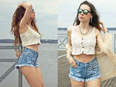 STUDDED denim shorts high waisted jeans vintage Levis by DSMjeans