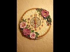 Скульптурная(обьемная) живопись. Декорирование часов декоративной штукатуркой. Часть III. - YouTube