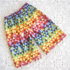 Funky shorts for year old boys 10 Year Old Boy, Triangle Print, Old Boys, Gifts For Boys, Monkeys, Rainbows, Purple, Pink, Recycling
