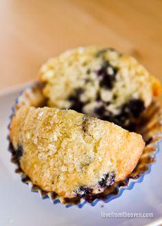 Lemon Blueberry Muffins with gluten-free option