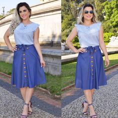 Long Skirt Outfits, Casual Work Outfits, Office Outfits, Modest Skirts, Casual Skirts, Salwar Pattern, Button Up Skirts, African Print Fashion, Dance Dresses
