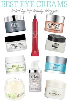 Skincare Tips  - The best eye creams tested by top beauty bloggers   Eye creams you should check out from top bloggers. #Eyecreams