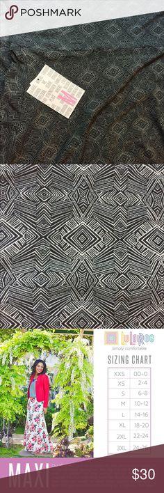 NWT lularoe maxi skirt Medium silky material.  NWT LuLaRoe Skirts Maxi