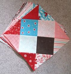Disappearing 16 Patch Block - @Melissa Corry  (Happy Quilting) has made a sensational variation on the standard nine patch quilt block that becomes a gorgeous diamond pattern. Bring a new twist to your patchwork quilting with a different kind of nine patch quilt pattern.
